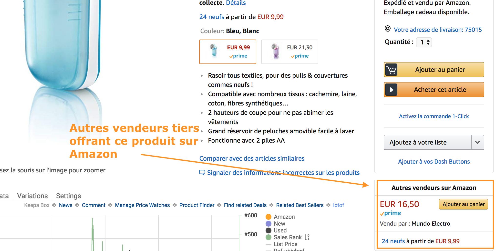 Vendeurs tiers Amazon