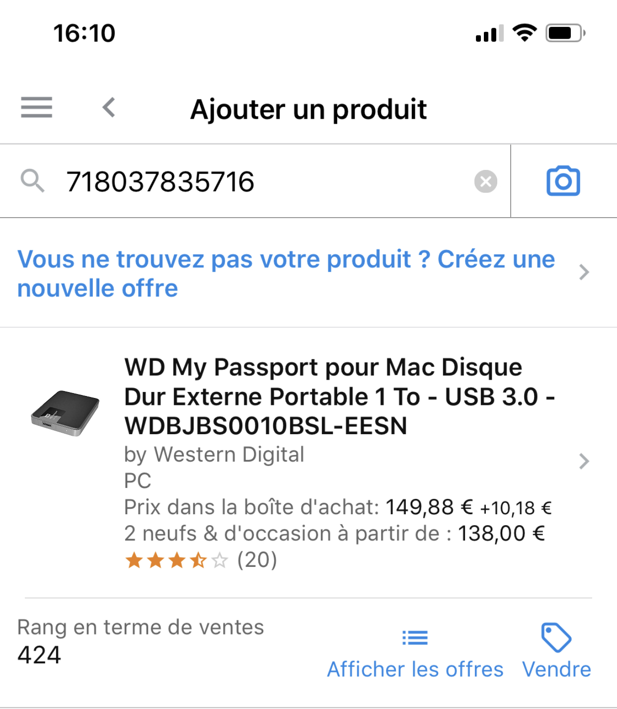 Application amazon vendeur
